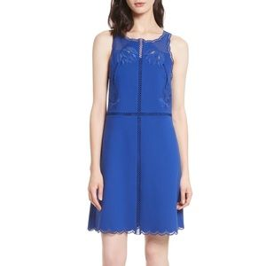 TED BAKER CODI EMBROIDERED SCALLOP DRESS GORGEOUS!